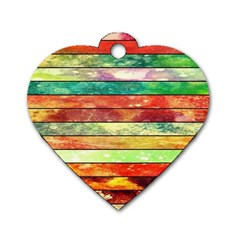 Stripes Color Oil Dog Tag Heart (one Side) by BangZart
