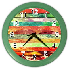 Stripes Color Oil Color Wall Clocks by BangZart