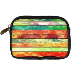Stripes Color Oil Digital Camera Cases by BangZart
