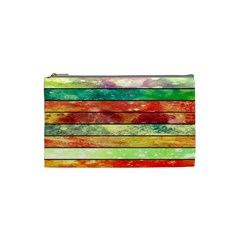Stripes Color Oil Cosmetic Bag (small)
