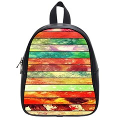 Stripes Color Oil School Bags (small)  by BangZart