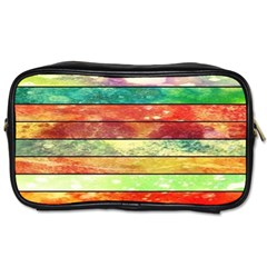 Stripes Color Oil Toiletries Bags by BangZart