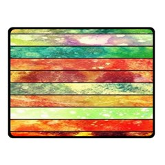 Stripes Color Oil Fleece Blanket (small) by BangZart