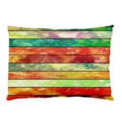 Stripes Color Oil Pillow Case (two Sides)