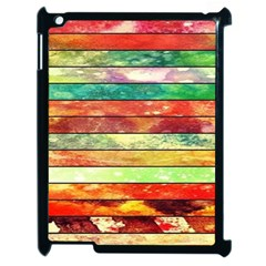 Stripes Color Oil Apple Ipad 2 Case (black) by BangZart