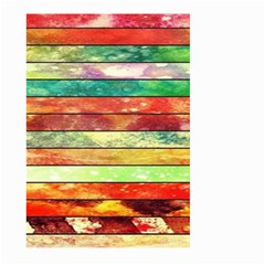 Stripes Color Oil Large Garden Flag (two Sides) by BangZart