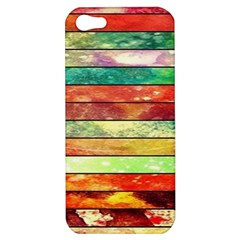 Stripes Color Oil Apple Iphone 5 Hardshell Case by BangZart
