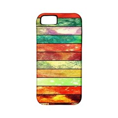 Stripes Color Oil Apple Iphone 5 Classic Hardshell Case (pc+silicone) by BangZart