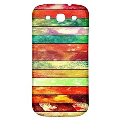 Stripes Color Oil Samsung Galaxy S3 S Iii Classic Hardshell Back Case by BangZart