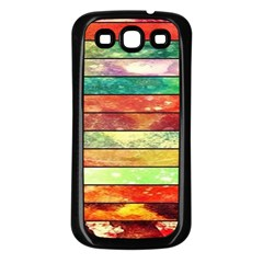 Stripes Color Oil Samsung Galaxy S3 Back Case (black) by BangZart