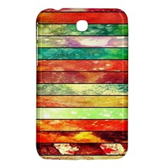 Stripes Color Oil Samsung Galaxy Tab 3 (7 ) P3200 Hardshell Case  by BangZart