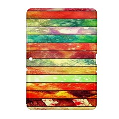 Stripes Color Oil Samsung Galaxy Tab 2 (10 1 ) P5100 Hardshell Case  by BangZart