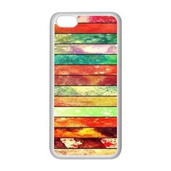 Stripes Color Oil Apple Iphone 5c Seamless Case (white) by BangZart