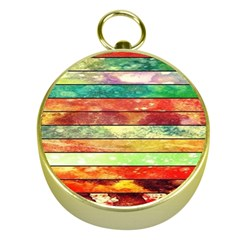 Stripes Color Oil Gold Compasses