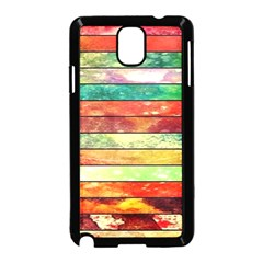 Stripes Color Oil Samsung Galaxy Note 3 Neo Hardshell Case (black)