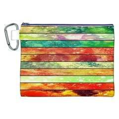 Stripes Color Oil Canvas Cosmetic Bag (xxl) by BangZart