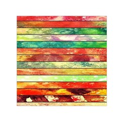 Stripes Color Oil Small Satin Scarf (square) by BangZart