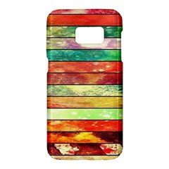 Stripes Color Oil Samsung Galaxy S7 Hardshell Case  by BangZart