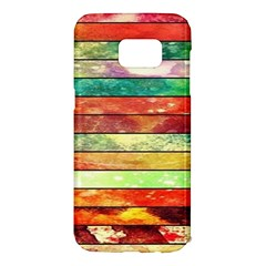Stripes Color Oil Samsung Galaxy S7 Edge Hardshell Case by BangZart