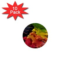 Green Yellow Red Maple Leaf 1  Mini Buttons (10 Pack)