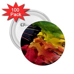 Green Yellow Red Maple Leaf 2 25  Buttons (100 Pack)  by BangZart