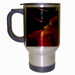 Green Yellow Red Maple Leaf Travel Mug (silver Gray) by BangZart