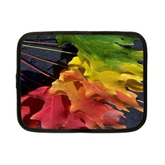 Green Yellow Red Maple Leaf Netbook Case (small)  by BangZart