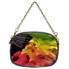 Green Yellow Red Maple Leaf Chain Purses (two Sides)  by BangZart