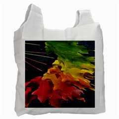 Green Yellow Red Maple Leaf Recycle Bag (one Side)