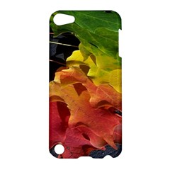 Green Yellow Red Maple Leaf Apple Ipod Touch 5 Hardshell Case