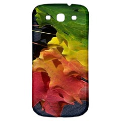 Green Yellow Red Maple Leaf Samsung Galaxy S3 S Iii Classic Hardshell Back Case by BangZart