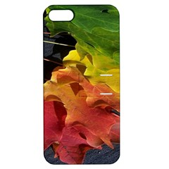 Green Yellow Red Maple Leaf Apple Iphone 5 Hardshell Case With Stand by BangZart