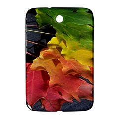 Green Yellow Red Maple Leaf Samsung Galaxy Note 8 0 N5100 Hardshell Case  by BangZart