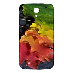 Green Yellow Red Maple Leaf Samsung Galaxy Mega I9200 Hardshell Back Case by BangZart