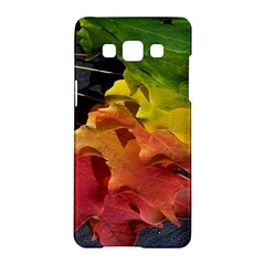Green Yellow Red Maple Leaf Samsung Galaxy A5 Hardshell Case