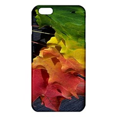 Green Yellow Red Maple Leaf Iphone 6 Plus/6s Plus Tpu Case by BangZart