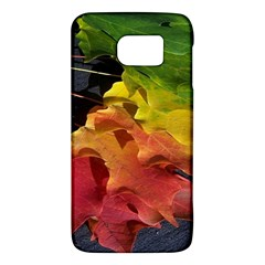 Green Yellow Red Maple Leaf Galaxy S6 by BangZart