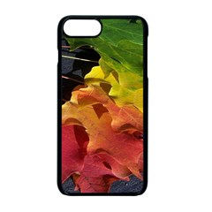 Green Yellow Red Maple Leaf Apple Iphone 7 Plus Seamless Case (black)