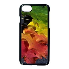 Green Yellow Red Maple Leaf Apple Iphone 7 Seamless Case (black) by BangZart