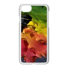 Green Yellow Red Maple Leaf Apple Iphone 7 Seamless Case (white) by BangZart