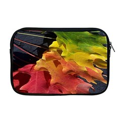 Green Yellow Red Maple Leaf Apple Macbook Pro 17  Zipper Case by BangZart