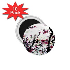 Pink Flower Ink Painting Art 1 75  Magnets (10 Pack)