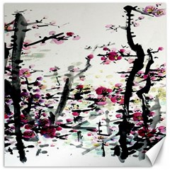 Pink Flower Ink Painting Art Canvas 20  X 20   by BangZart