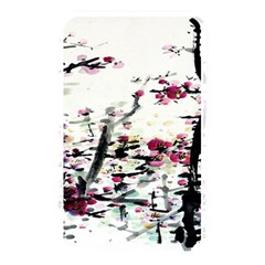 Pink Flower Ink Painting Art Memory Card Reader