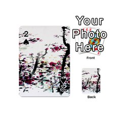 Pink Flower Ink Painting Art Playing Cards 54 (mini)