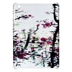 Pink Flower Ink Painting Art Apple Ipad Mini Hardshell Case by BangZart