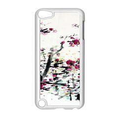 Pink Flower Ink Painting Art Apple Ipod Touch 5 Case (white) by BangZart