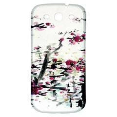 Pink Flower Ink Painting Art Samsung Galaxy S3 S Iii Classic Hardshell Back Case by BangZart