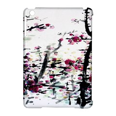 Pink Flower Ink Painting Art Apple Ipad Mini Hardshell Case (compatible With Smart Cover) by BangZart