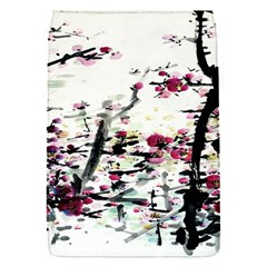 Pink Flower Ink Painting Art Flap Covers (s)  by BangZart